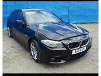 Bmw 5 series f10 520d 530d 535d black front end bumper headlights bonnet wheelnut