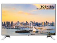 """**Brand New** Toshiba 43U6663DB 43"""" Freeview HD and Freeview Play Smart 4K Ultra HD TV - Silver"""