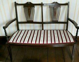 Edwardian two seater sofa