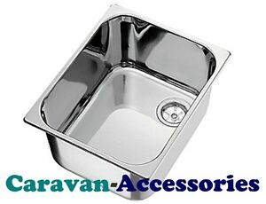 CAN RECTANGULAR SINK 320x260 STAINLESS STEEL BOWL -Boat/Camper/Motorhome/Caravan