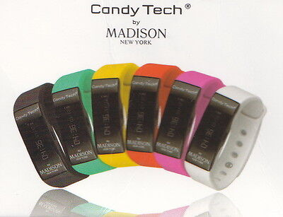 Candy Tech by Madison N.Y. Go Time Fitnessuhr / Smart-Watch CT-04 in weiss -  Candy Tech