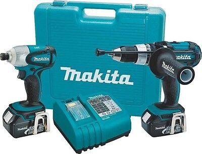New Makita Lxt218 Lxt Cordless 18 Volt Hammer Drill Driver Combo Kit Case