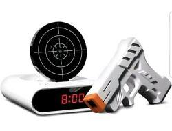 Sharper Image Laser Target Alarm Clock White - Great Gift Idea! - Brand New