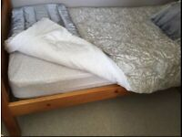 Solid Pine Single Bed without mattress