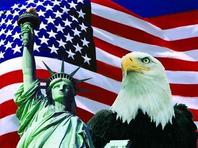 Statue of Liberty - Flag 3D Lenticular Poster - American Patriotic -12x16 Print
