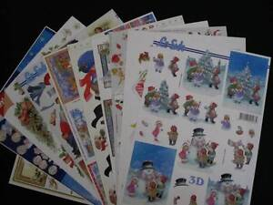 Christmas 3d decoupage sheets McDowall Brisbane North West Preview