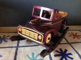 Wooden Rocking Car