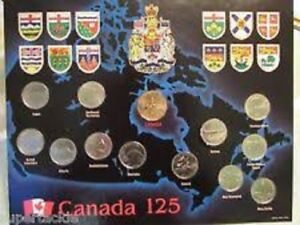 1992 Canada 125 Year commemorative coin set 10 province 2 territ