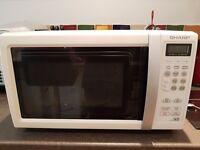 Microwave Oven - Fully working, white