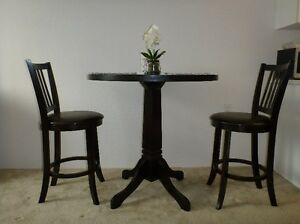 Three Piece Dinette - Pub Height Table & Two Chairs