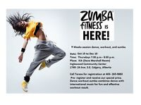 Latin dance workout zumba lessons, 9 lessons or do drop in