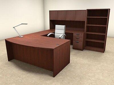 6pc U Shaped Modern Executive Office Desk Ot-sul-u30