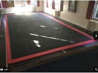 35 Black BJJ / Judo / Martial Arts Sportag gigsaw mats with red surround. £650 ono!!!