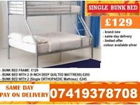 Brand New metal triosleeper Bunk Bed Available With Mattress timi