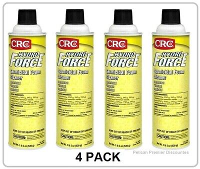 4 Pack Crc Hydroforce Germicidal Foam Cleaner - 20 Oz. Each No.14430
