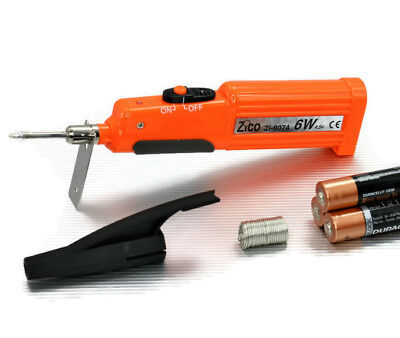 Portable Soldering Iron 6w 4.5v Powered By 3aa 1.5v Battery Zico Zi-8074 New