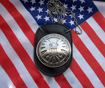 THE AVENGERS AGENTS OF SHIELD S.H.I.E.L.D. BADGE WITH LEATHER BADGE HOLDER