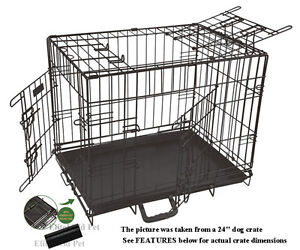 EliteField-30-3-Door-Folding-Dog-Crate-Cage-Kennel-with-RUBBER-FEET