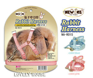Adjustable-Rabbit-Ferret-Guines-Pig-Harness-Mesh-Leash-Lead-Set-ONE-SIZE-FREE-PP