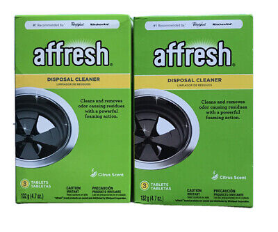 2x Affresh Disposal Cleaner CITRUS SCENT Tablets 3-Pack NEW 6 Tablets Total