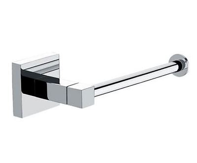 Modern Square Wall Mounted Bathroom Toilet Roll Holder With Chrome Finish.