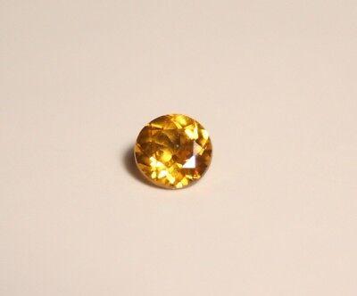 0.57ct Canary Yellow Zircon - Flawless Custom Cut Brilliant Round