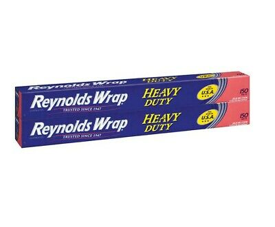 Reynolds Wrap Heavy Duty Aluminum Foil 18 In X 150 Ft 2-count New