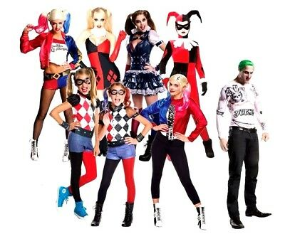 Official Suicide Squad HARLEY QUINN Fancy Dress Costume Ladies Girls (Girl Squad Kostüm)