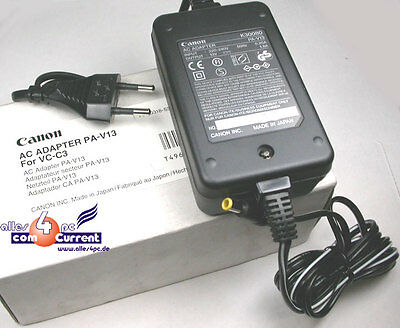 CANON NETZTEIL PA-V13 K30080 FÜR VC-C3 KAMERA POWER SUPPLY OVP NEW C3-kamera