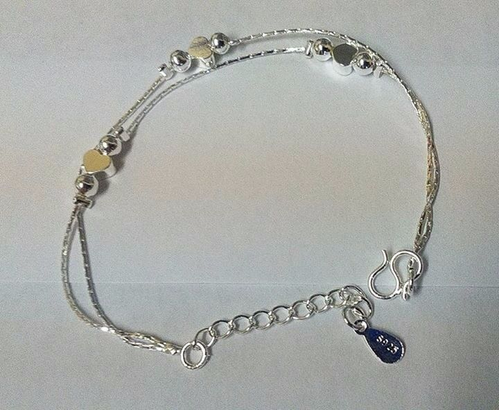 Bracelet with love hearts £4.50