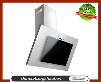 Dunstabzugshaube MAAN Vertical 3S! 60cm, Schwarzglas-Edelstahl! LED! Ausverkauf!