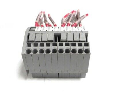 Wago Terminal Block 280 800 V 24 A Awg 28-12 Din Rail Mount Lot Of 10
