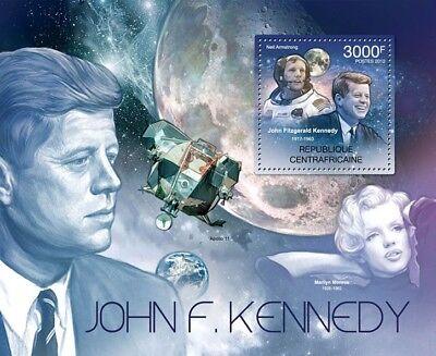 JFK John F. Kennedy & Neil Armstrong NASA APOLLO XI Space Stamp Sheet (2012 CAF)