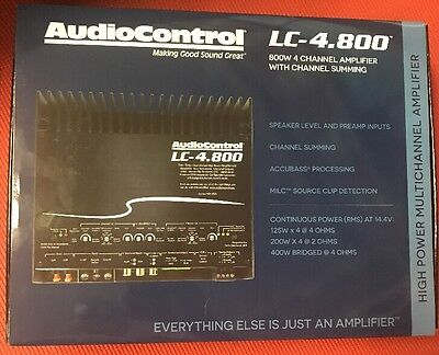AudioControl LC-4.800 800W RMS 4-Channel ACCUBass Processing Car Amplifier for sale  Shipping to South Africa