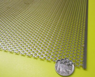 Perforated Staggered Steel Sheet .036 Thick X 24 X 24 .125 Hole Dia.
