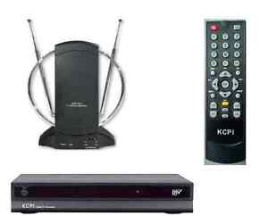$59.99 - KCPI dt504 Digital to Analog Converter Box & Remote +Amlified TV Antenna Package