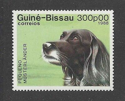 Dog Art Head Study Portrait Postage Stamp SMALL MUNSTERLANDER ENGLISH SETTER MNH