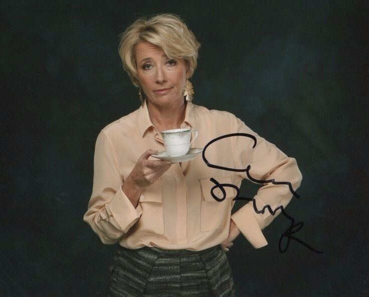 Emma Thompson Beauty and the Beast Autographed Signed 8x10 Photo COA #2