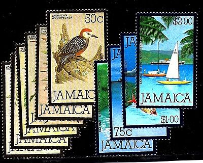 Jamaica Sellos #472-481 Aves & Agua Sports - 1980 - sin Usar