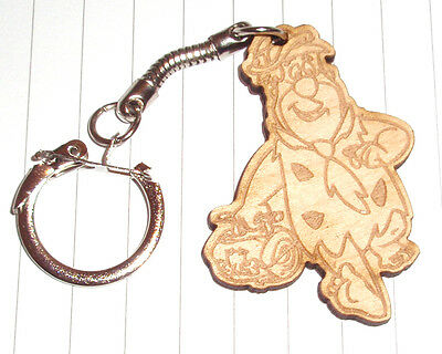Classic The Flinstones Fred, Pebbles & Bambam  Keyring Engraved Pendant - The Flinstones Bam Bam