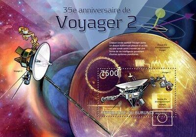 NASA/JPL VOYAGER 2 Planetary Exploration Space Probe Stamp Sheet 2/2012 Burundi