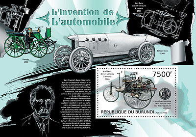 History Of Automobiles Karl Benz S S Burundi Sc 1277  Bur12722b