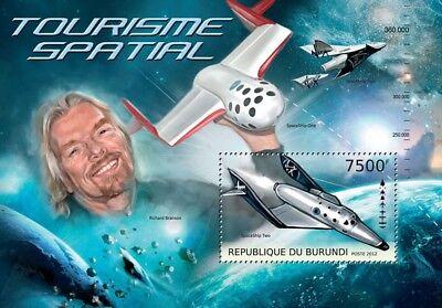 Richard Branson VIRGIN GALACTIC & Spacecraft Space Tourism Stamp Sheet (2012)
