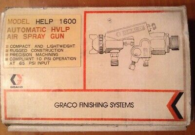 Graco Help 1600 Air Spray Gun 110-863