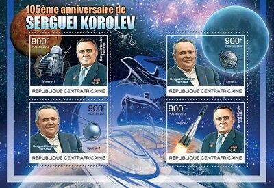SERGEI KOROLEV Russian Space/Rocket Engineer (Sputnik/Vostok) Stamp Sheet (2012)