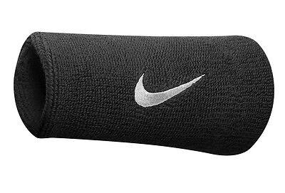 Nike Swoosh Doublewide Wristband Black