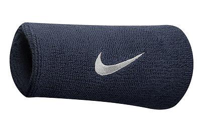 Nike Swoosh Doublewide Wristband Obsidian/White