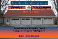 Professionally Installed Garage Door Openers $79.95