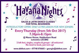 Beginners Salsa Classes with Havana Nights