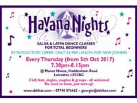 Beginners Salsa Classes with Havana Nights